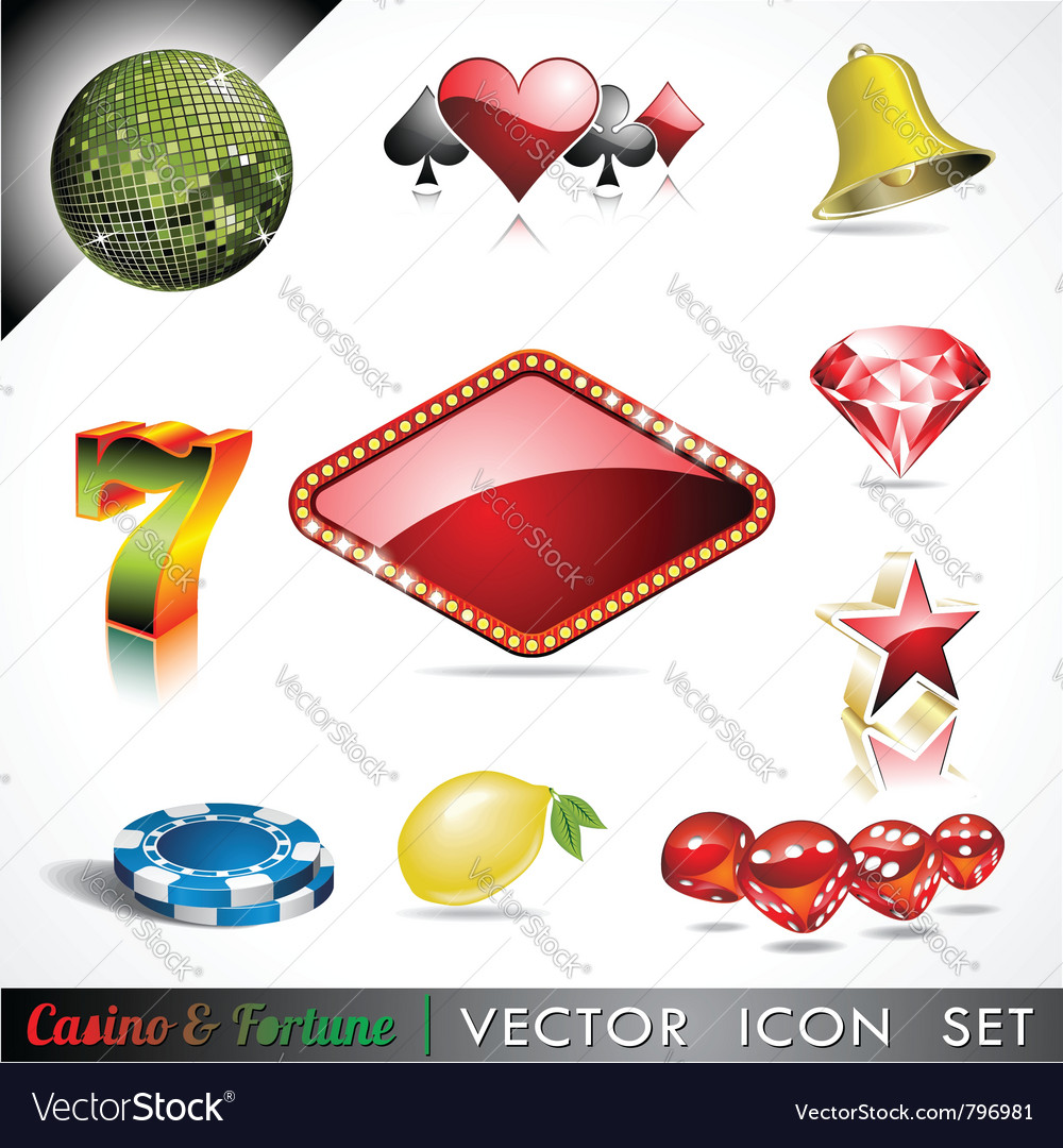 Casino and fortune theme vector | Price: 1 Credit (USD $1)