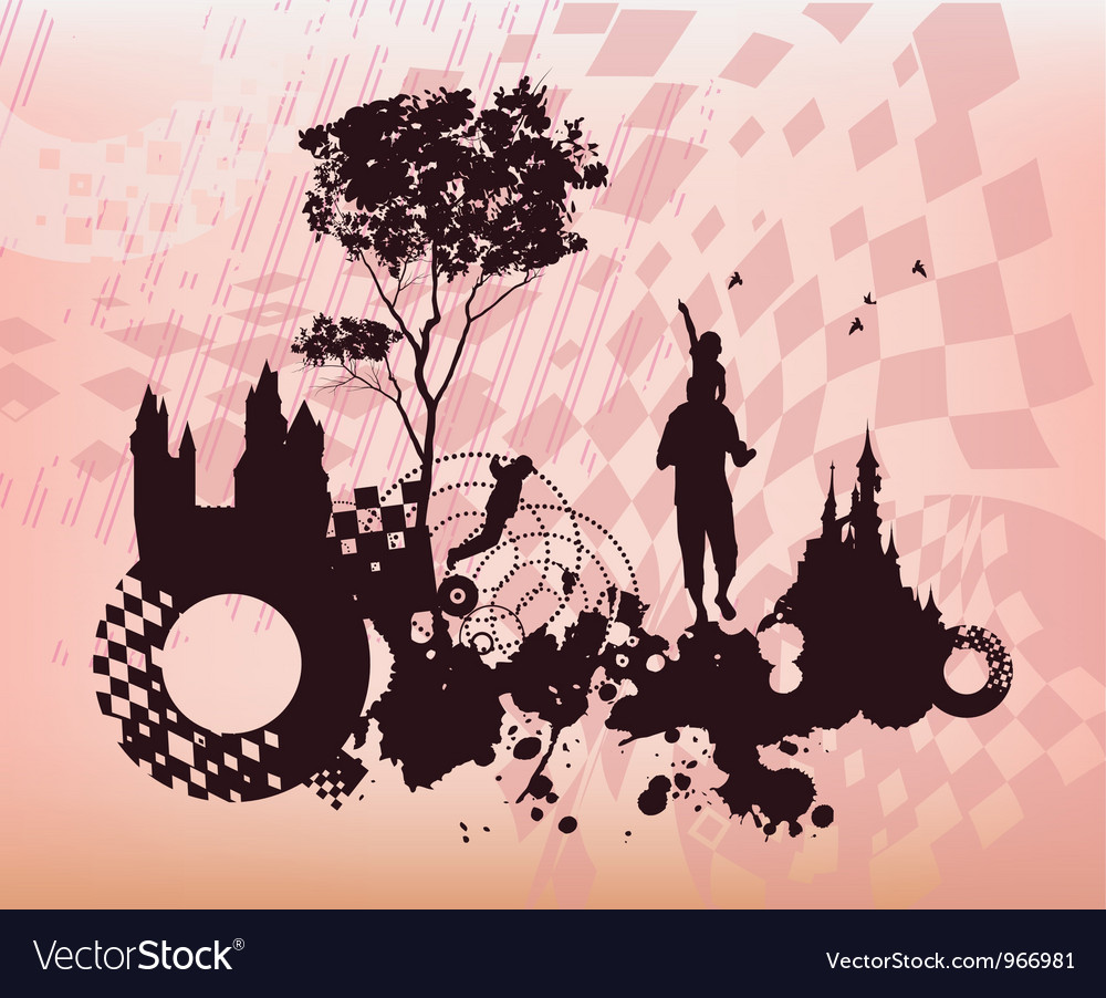 Children past present concept background vector | Price: 1 Credit (USD $1)