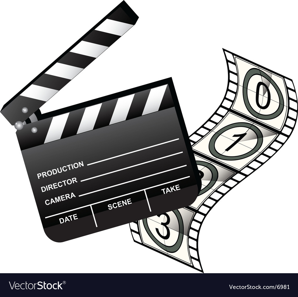 Clapboard with film vector | Price: 3 Credit (USD $3)