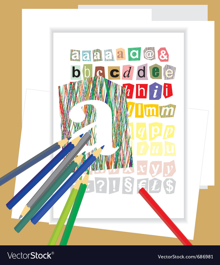 Draw the alphabet vector | Price: 1 Credit (USD $1)