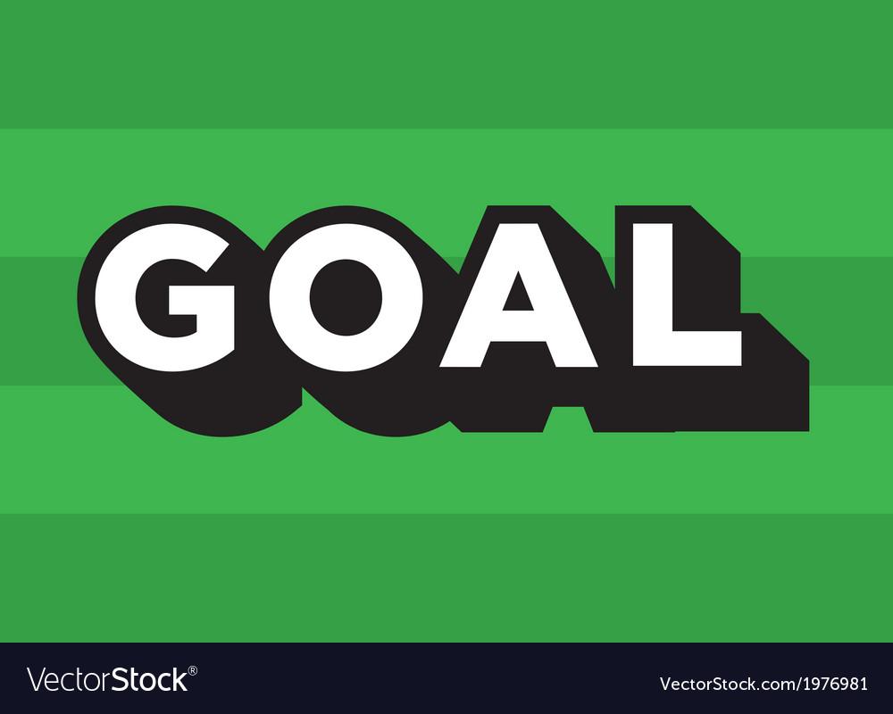 Football soccer goal logo vector   Price: 1 Credit (USD $1)