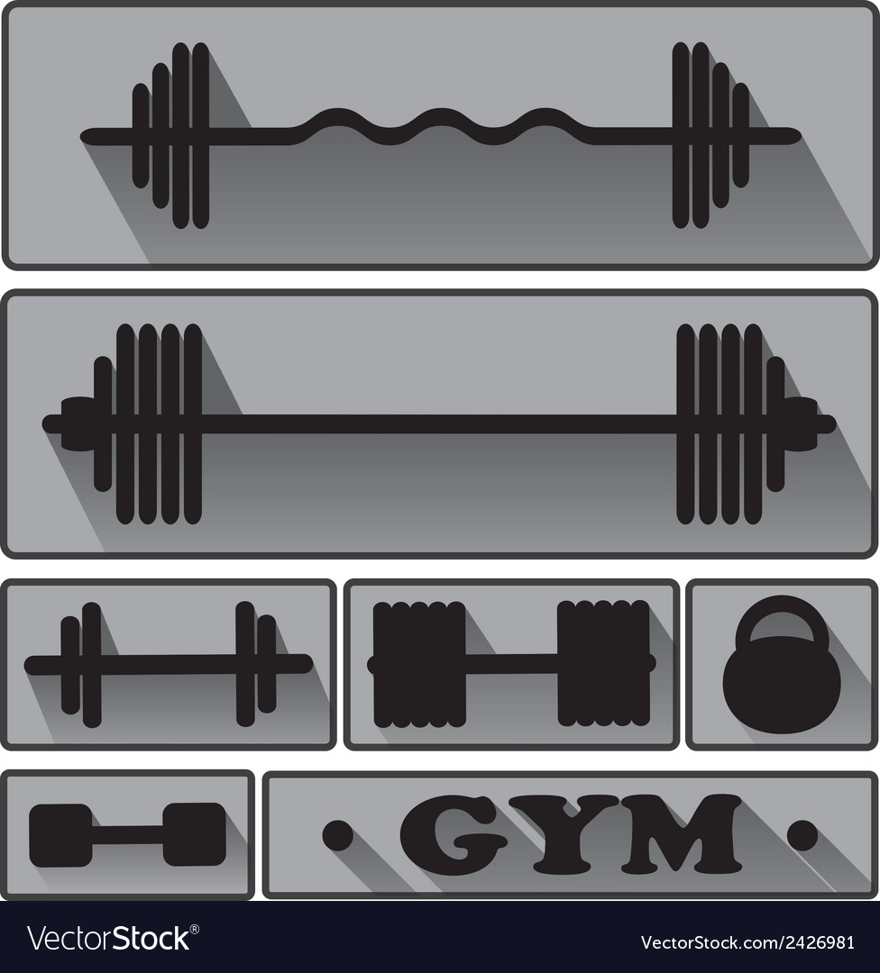 Gym fitness icons vector | Price: 1 Credit (USD $1)