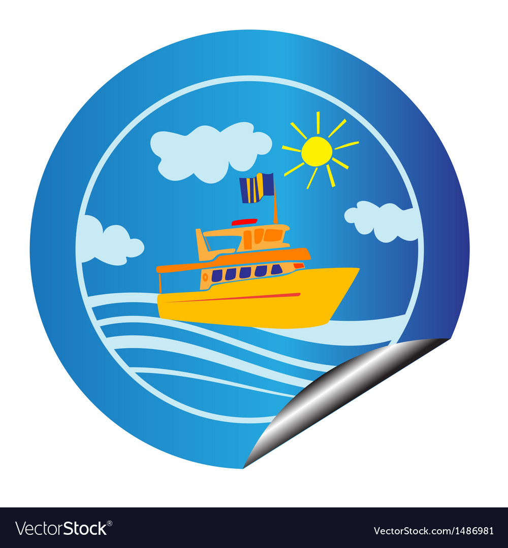 Leisure cruise sticker vector | Price: 1 Credit (USD $1)