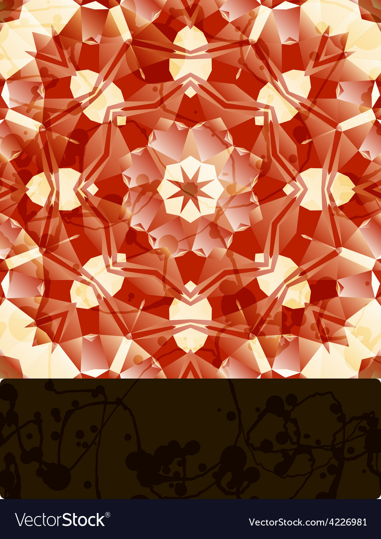Mandala with blank banner vector | Price: 1 Credit (USD $1)