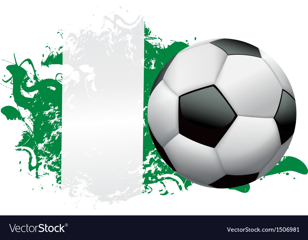 Nigeria soccer grunge vector | Price: 1 Credit (USD $1)