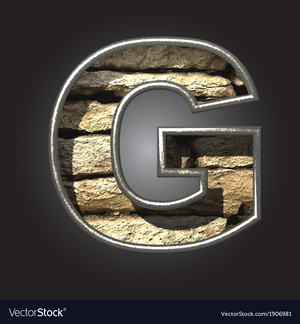 Old stone letter g vector | Price: 1 Credit (USD $1)