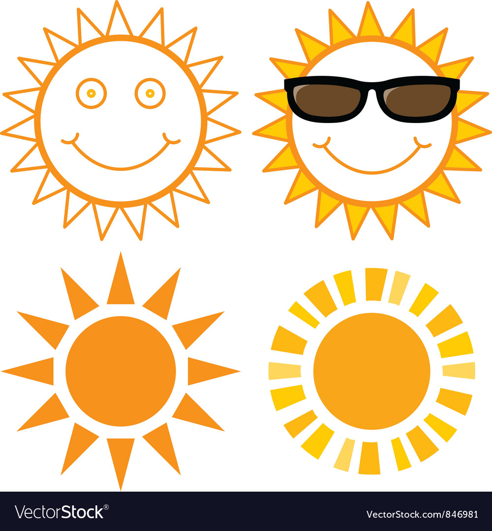 Set of suns vector | Price: 1 Credit (USD $1)