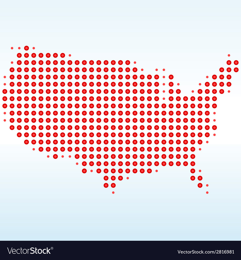 Usa dotted map vector | Price: 1 Credit (USD $1)