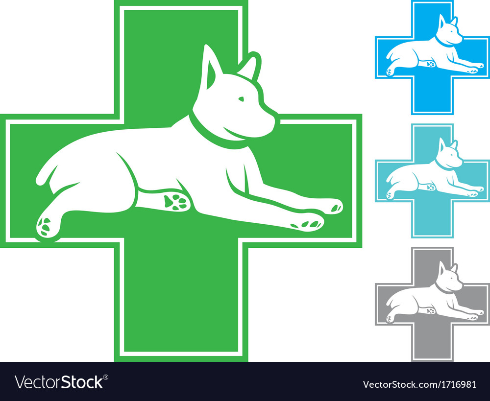 Veterinary symbol with dog vector | Price: 1 Credit (USD $1)