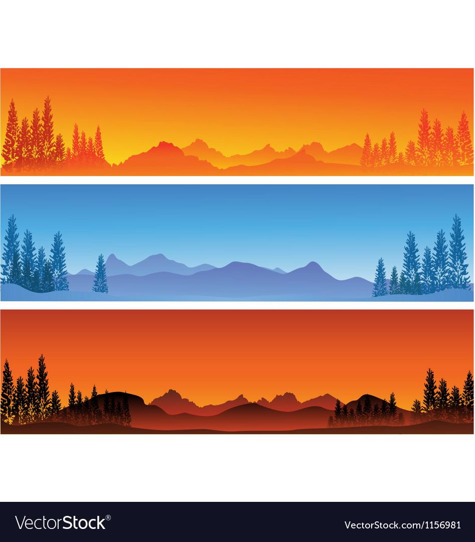 Winter banner background vector | Price: 1 Credit (USD $1)