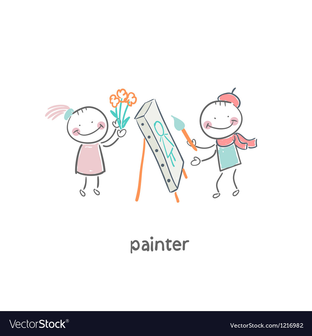 Artist painter vector | Price: 1 Credit (USD $1)