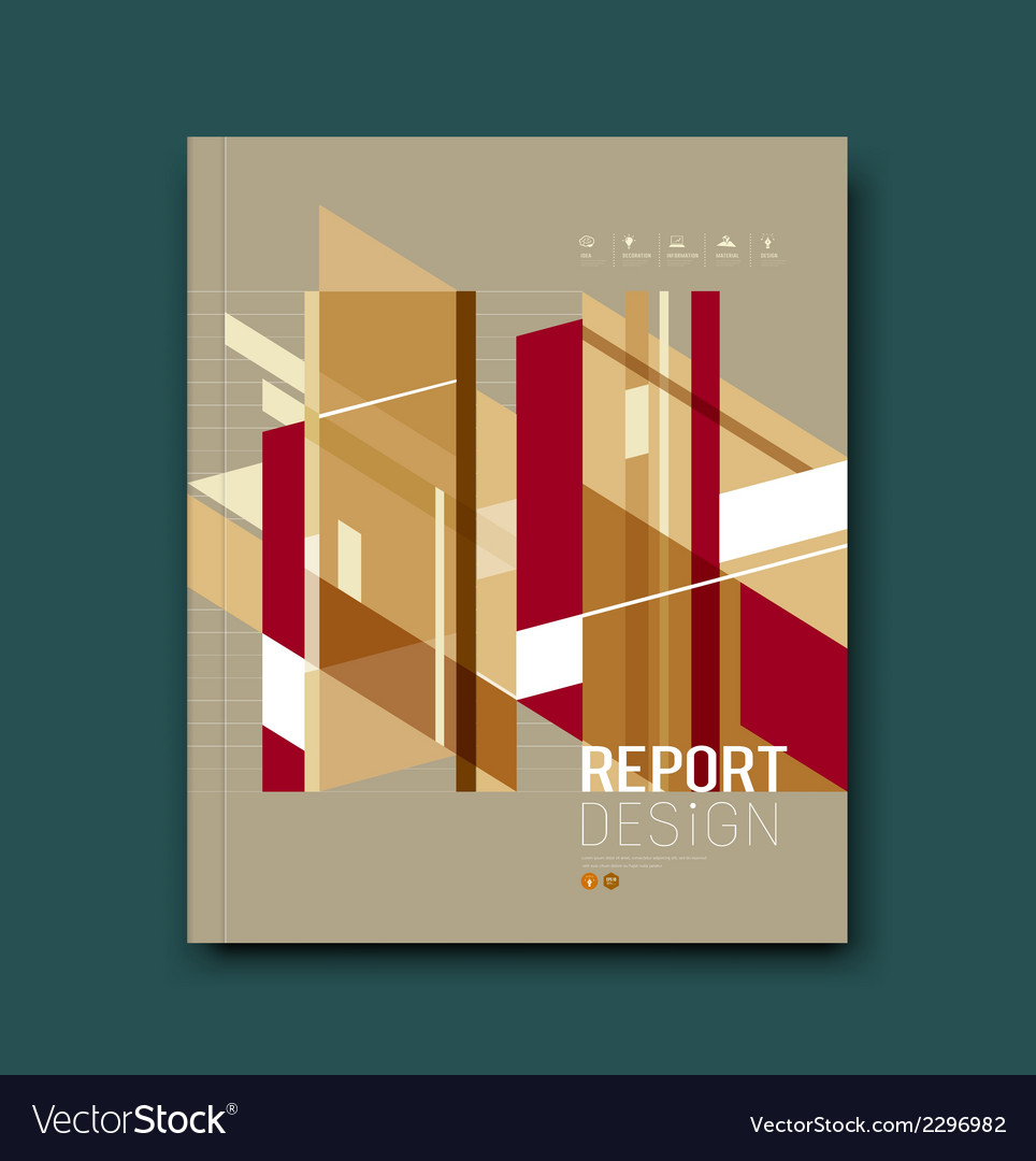 Cover magazine abstract buildings brown background vector | Price: 1 Credit (USD $1)