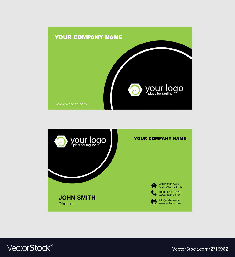 Green and black name card vector | Price: 1 Credit (USD $1)