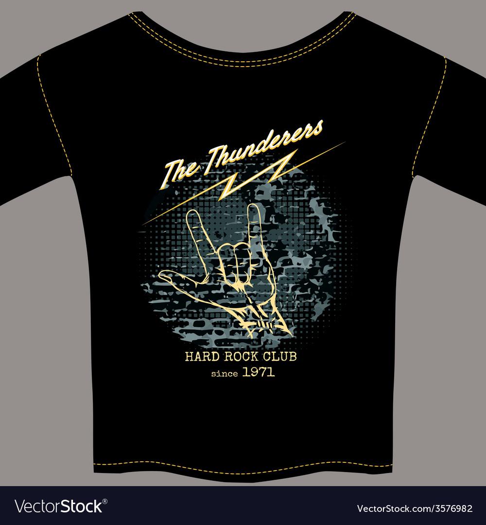 Hard rock t-shirt template vector | Price: 1 Credit (USD $1)