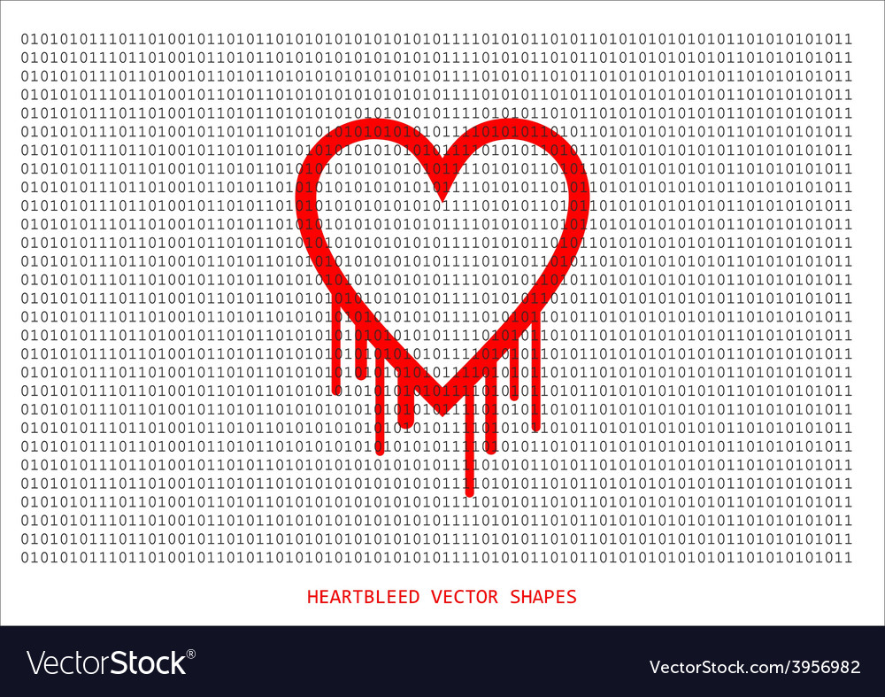 Heartbleed openssl bug shape bleeding hear vector | Price: 1 Credit (USD $1)