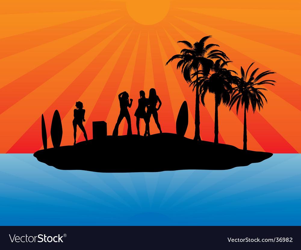 Holiday island vector | Price: 1 Credit (USD $1)