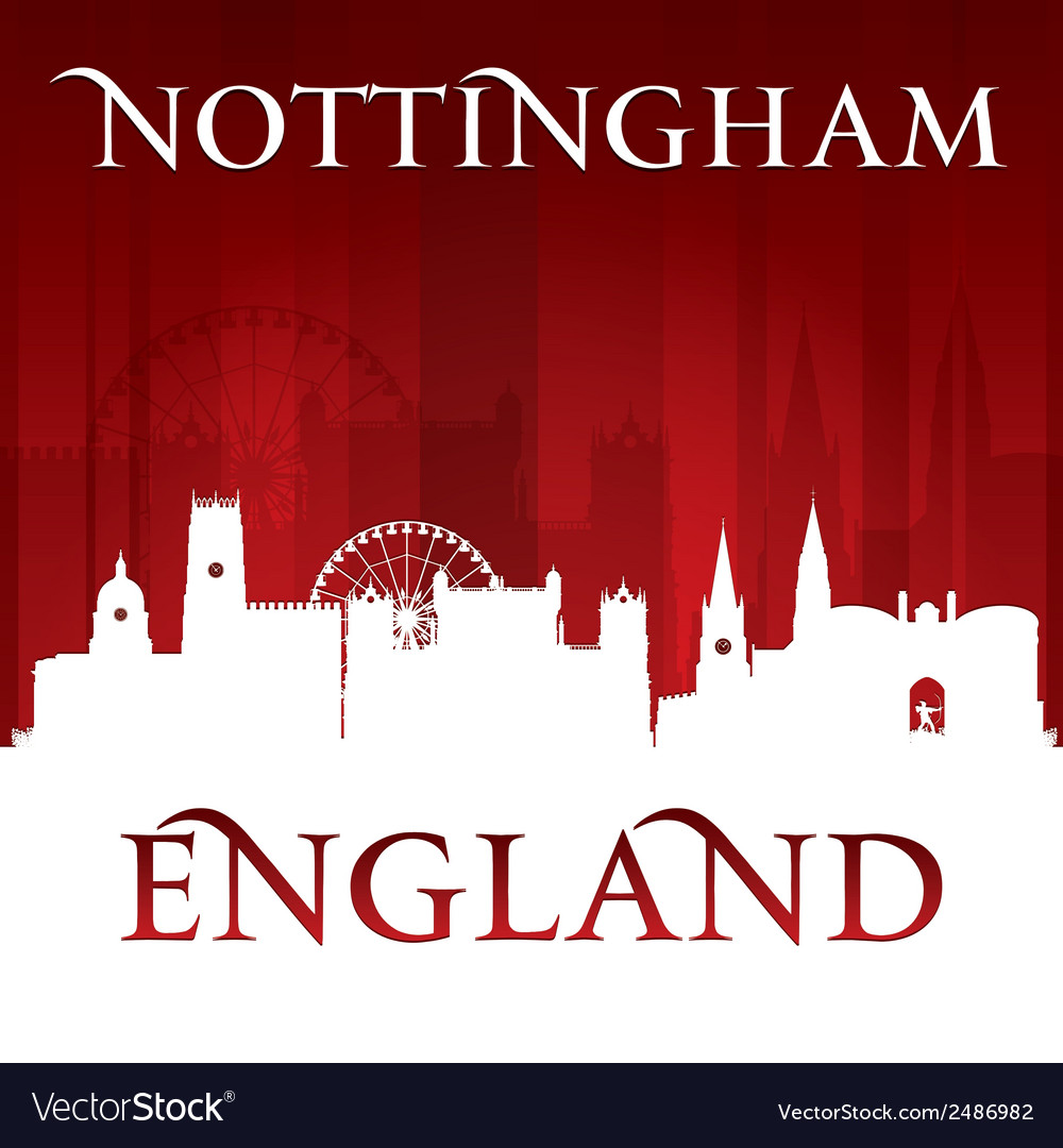 Nottingham england city skyline silhouette vector | Price: 1 Credit (USD $1)