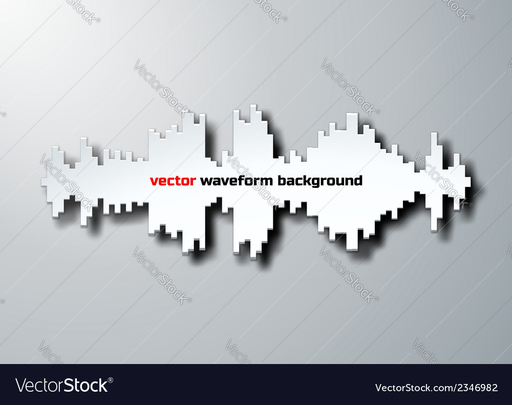 Silhouette of sound waveform with shadow vector | Price: 1 Credit (USD $1)