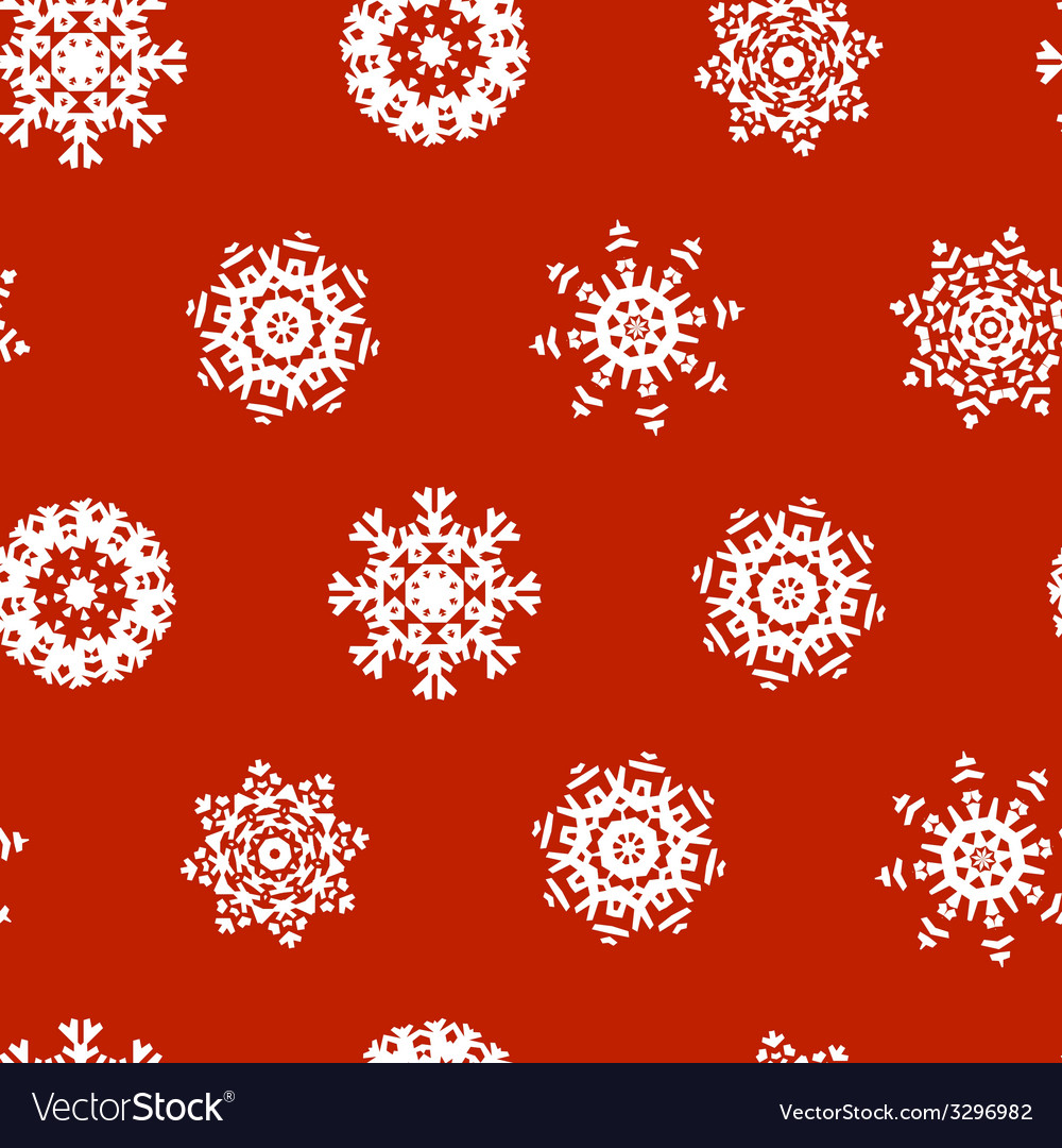 Snowflake xmas patter vector | Price: 1 Credit (USD $1)