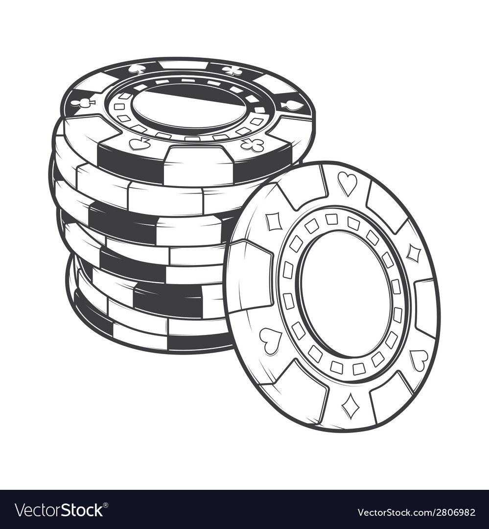 Stacks of gambling chips casino tokens vector | Price: 1 Credit (USD $1)