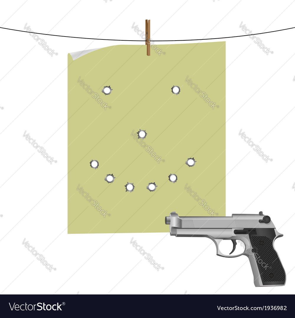 Target and gun vector | Price: 1 Credit (USD $1)