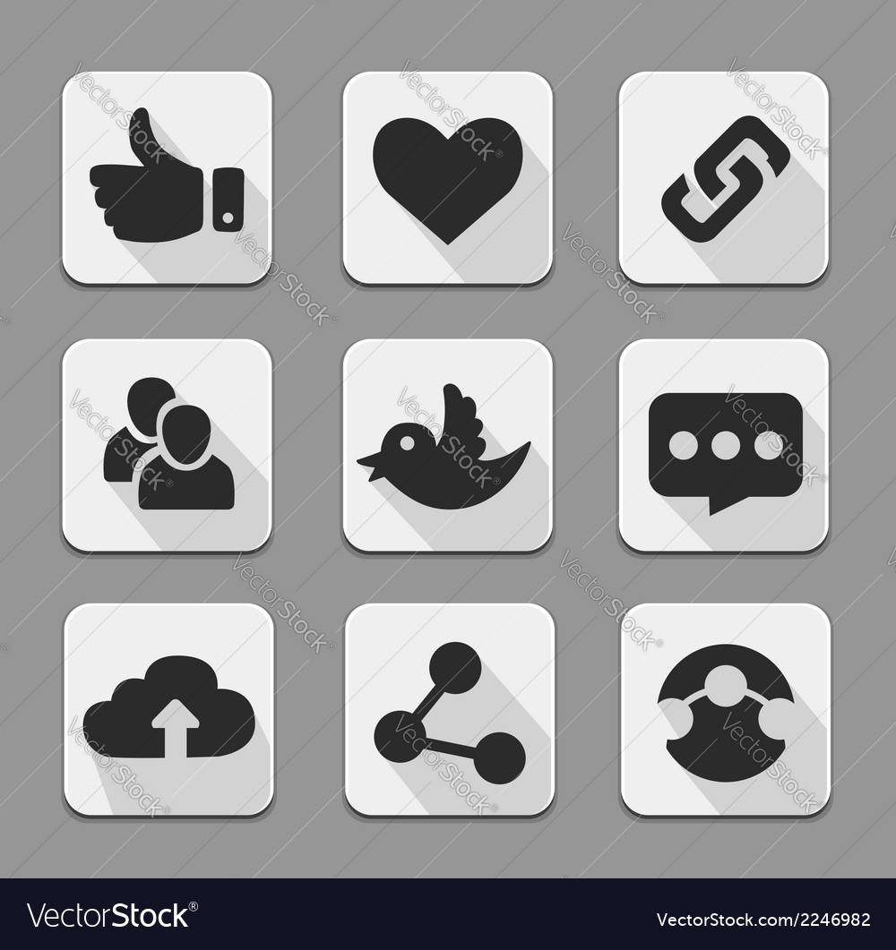 Web design buttons white set vector | Price: 1 Credit (USD $1)