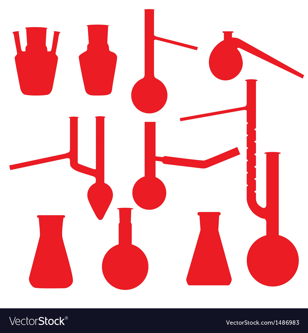 Chemistry lab glasses collection vector | Price: 1 Credit (USD $1)
