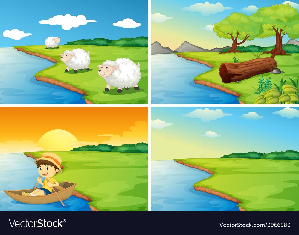 Countryside scenes vector | Price: 3 Credit (USD $3)