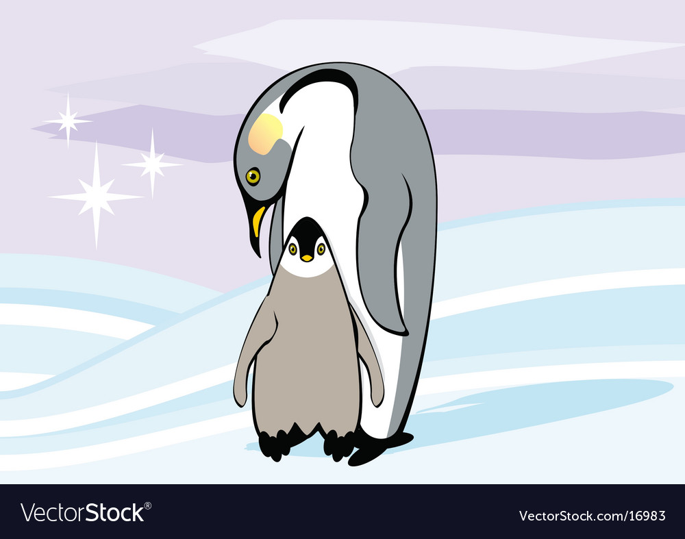 Emperor penguin vector | Price: 3 Credit (USD $3)