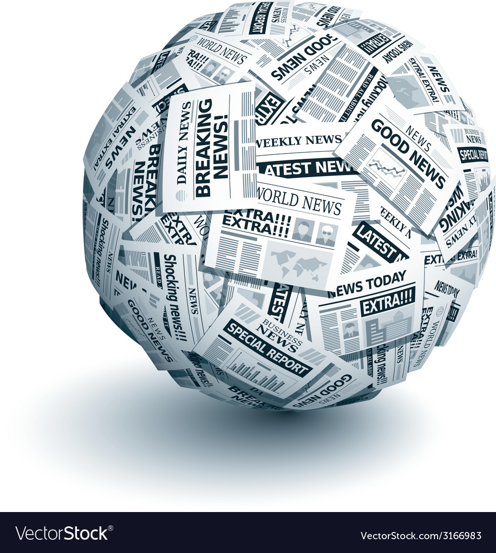 Newspaper ball vector | Price: 1 Credit (USD $1)