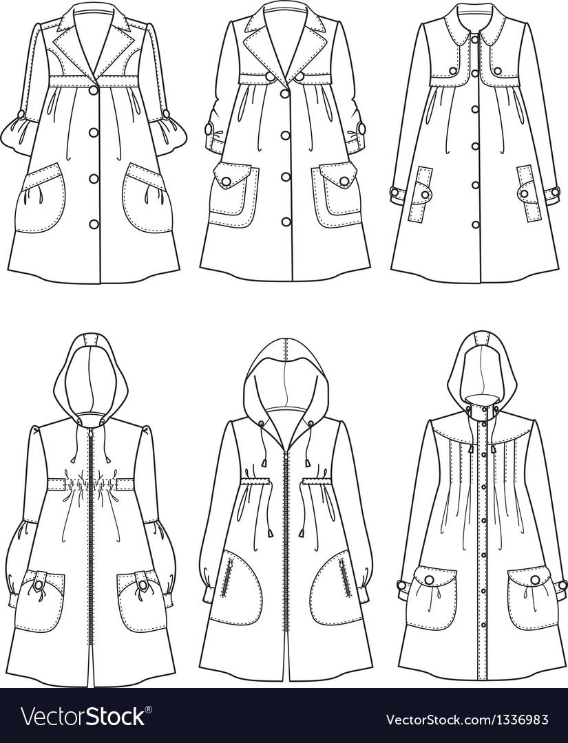 Raincoats vector | Price: 1 Credit (USD $1)