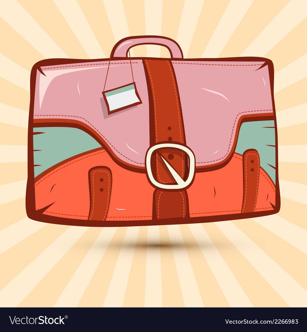 Retro suitcase on vintage background vector | Price: 1 Credit (USD $1)