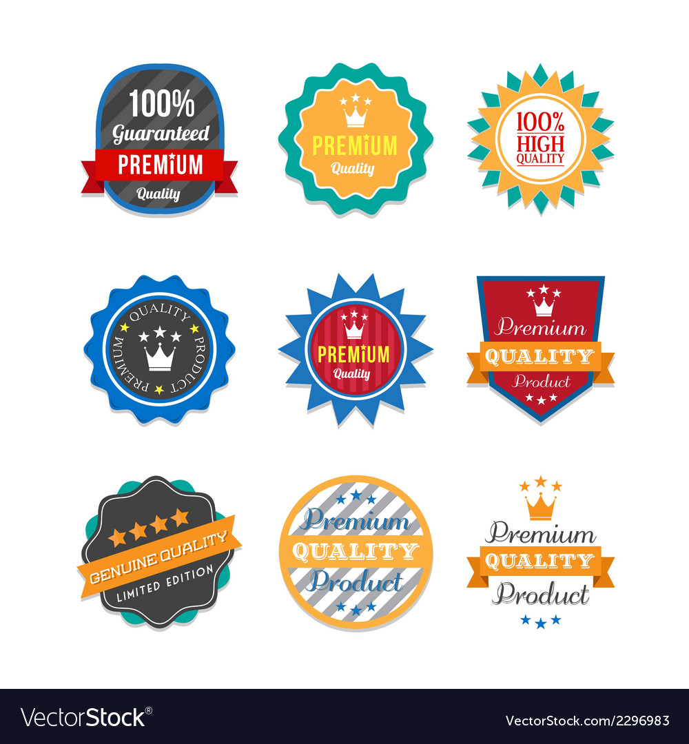 Ribbons and labels set vector | Price: 1 Credit (USD $1)