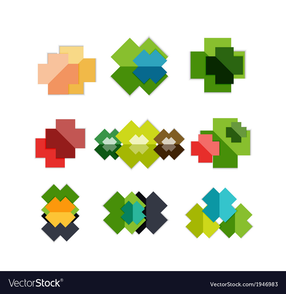 Set of cross geometric shapes - symbols vector | Price: 1 Credit (USD $1)