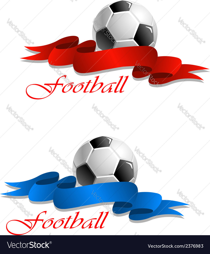 Soccer or football emblem vector | Price: 1 Credit (USD $1)