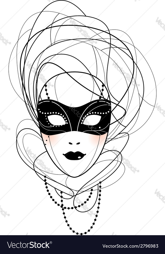 Venetian mask vector | Price: 1 Credit (USD $1)