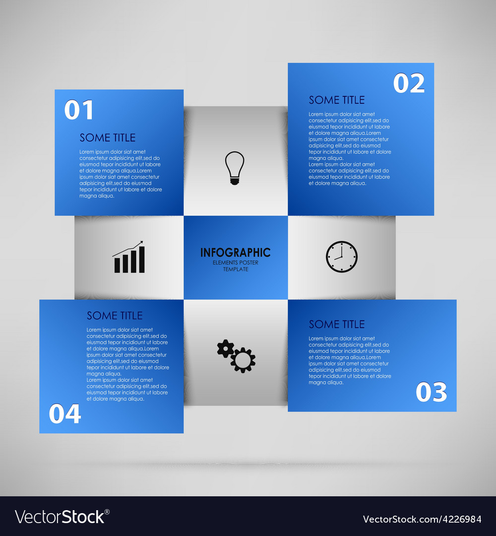 Abstract info graphic with blue squares vector | Price: 1 Credit (USD $1)