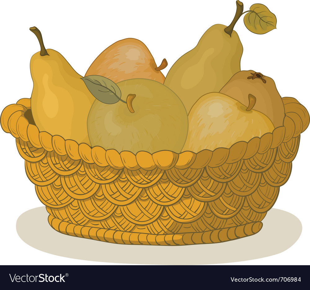 Basket with fruits vector | Price: 1 Credit (USD $1)