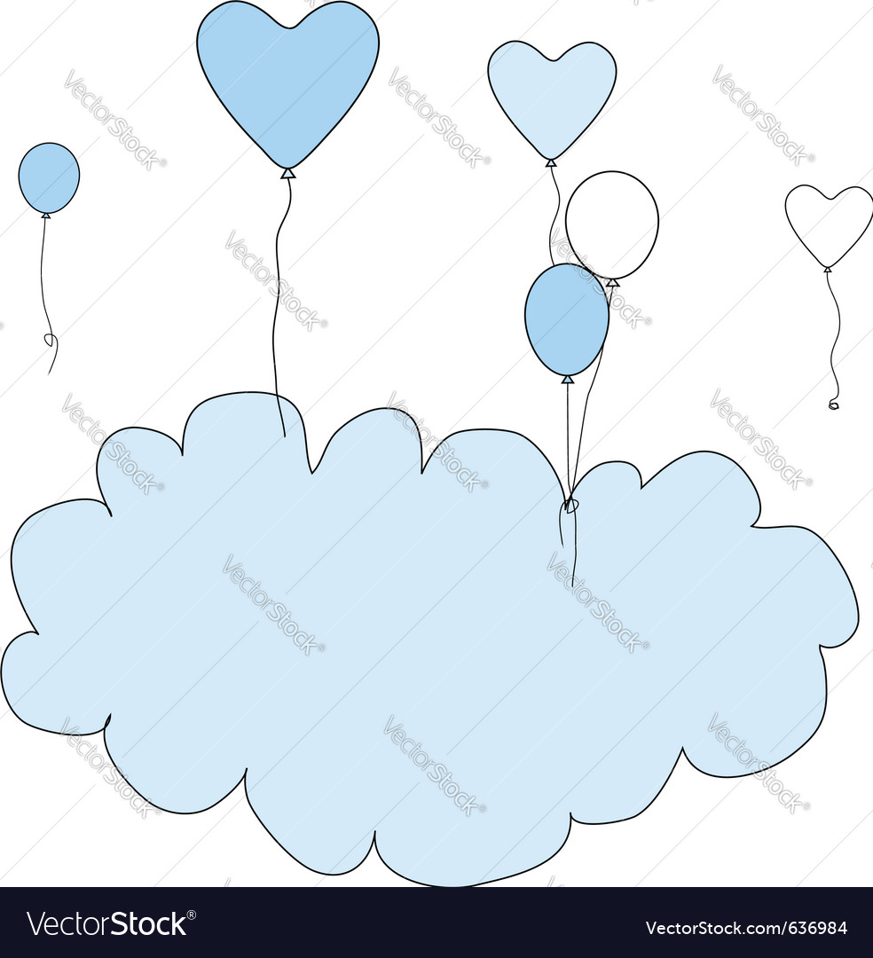 Birthday balloon frame vector | Price: 1 Credit (USD $1)