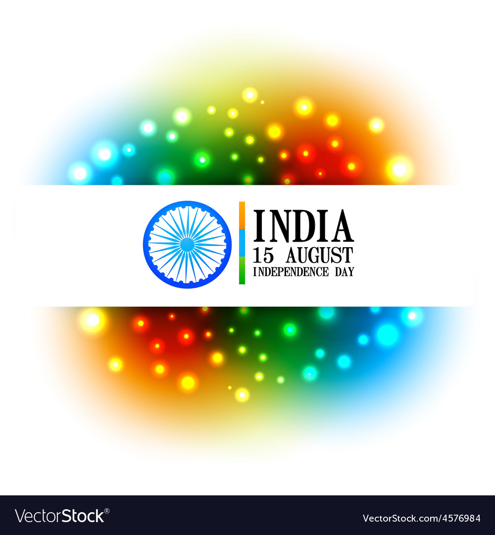 Colorful indian flag design vector | Price: 1 Credit (USD $1)