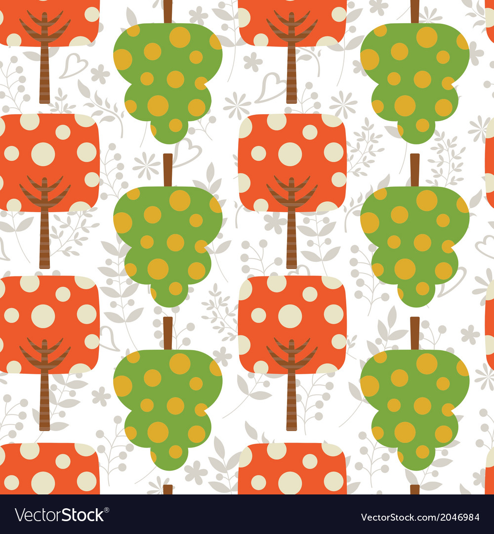 Colorful trees pattern vector | Price: 1 Credit (USD $1)