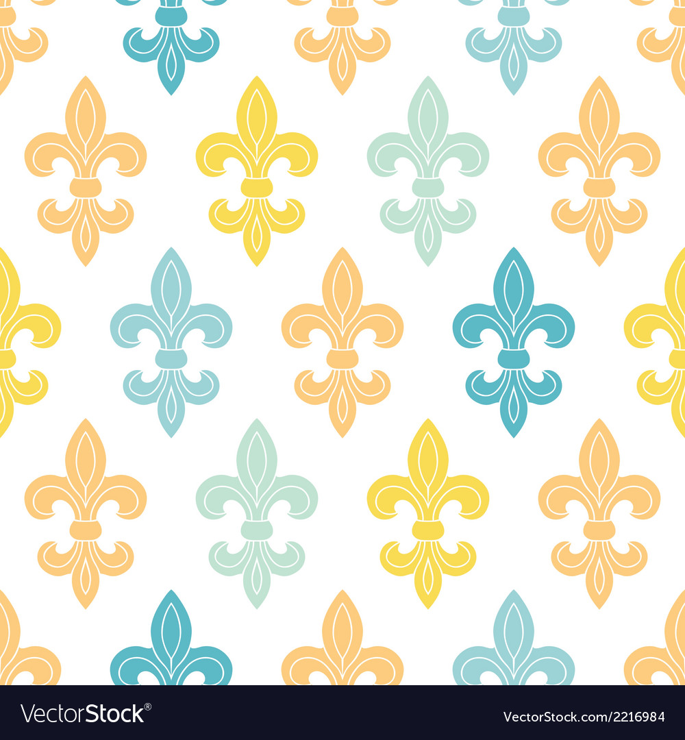 God and blue lily seamless pattern background vector | Price: 1 Credit (USD $1)