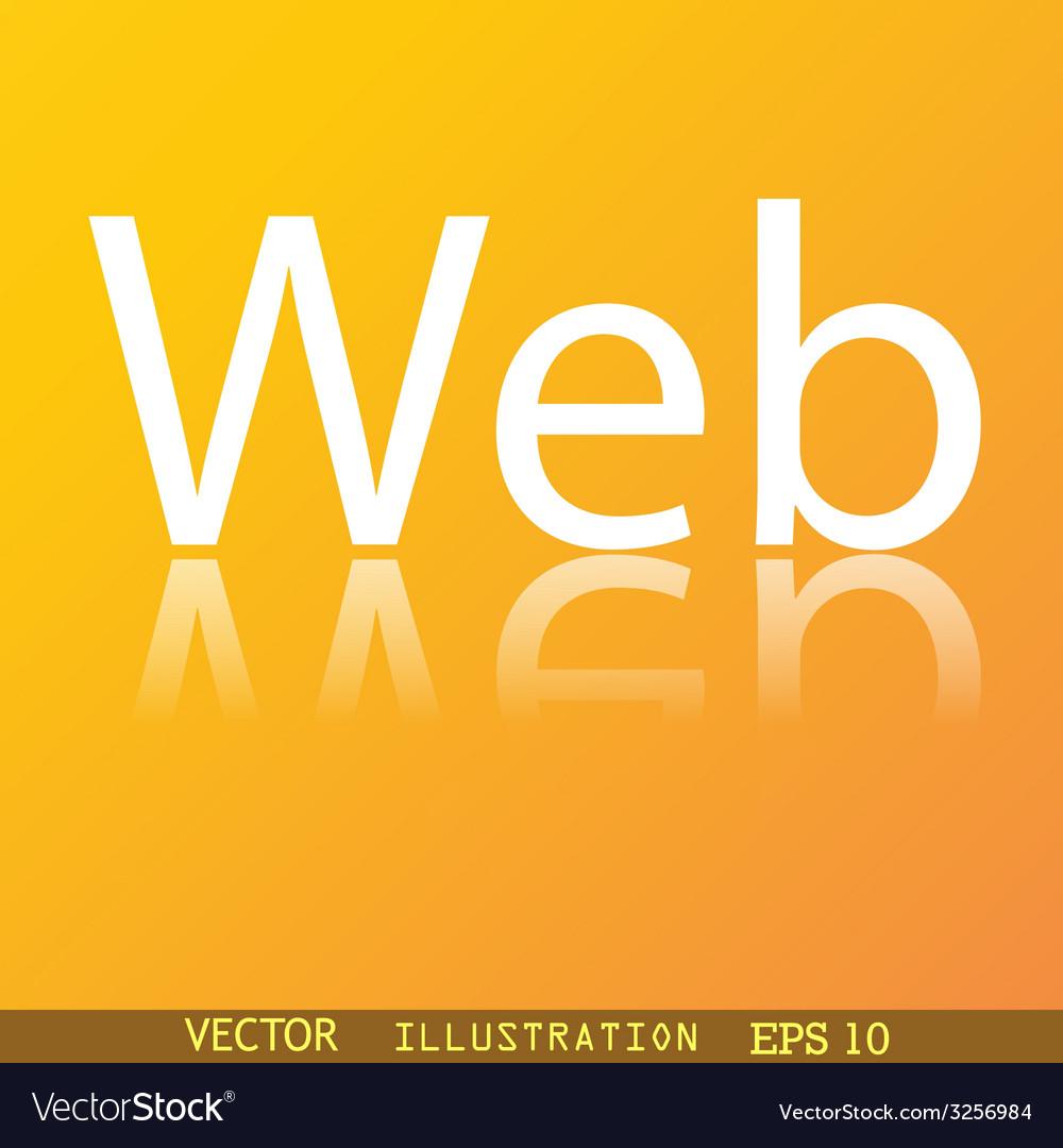 Web icon symbol flat modern web design with vector | Price: 1 Credit (USD $1)