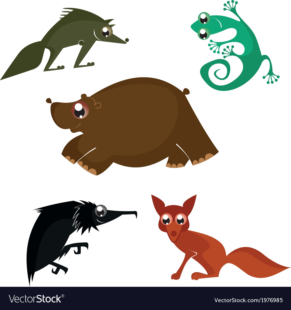 Cartoon funny animals vector | Price: 1 Credit (USD $1)