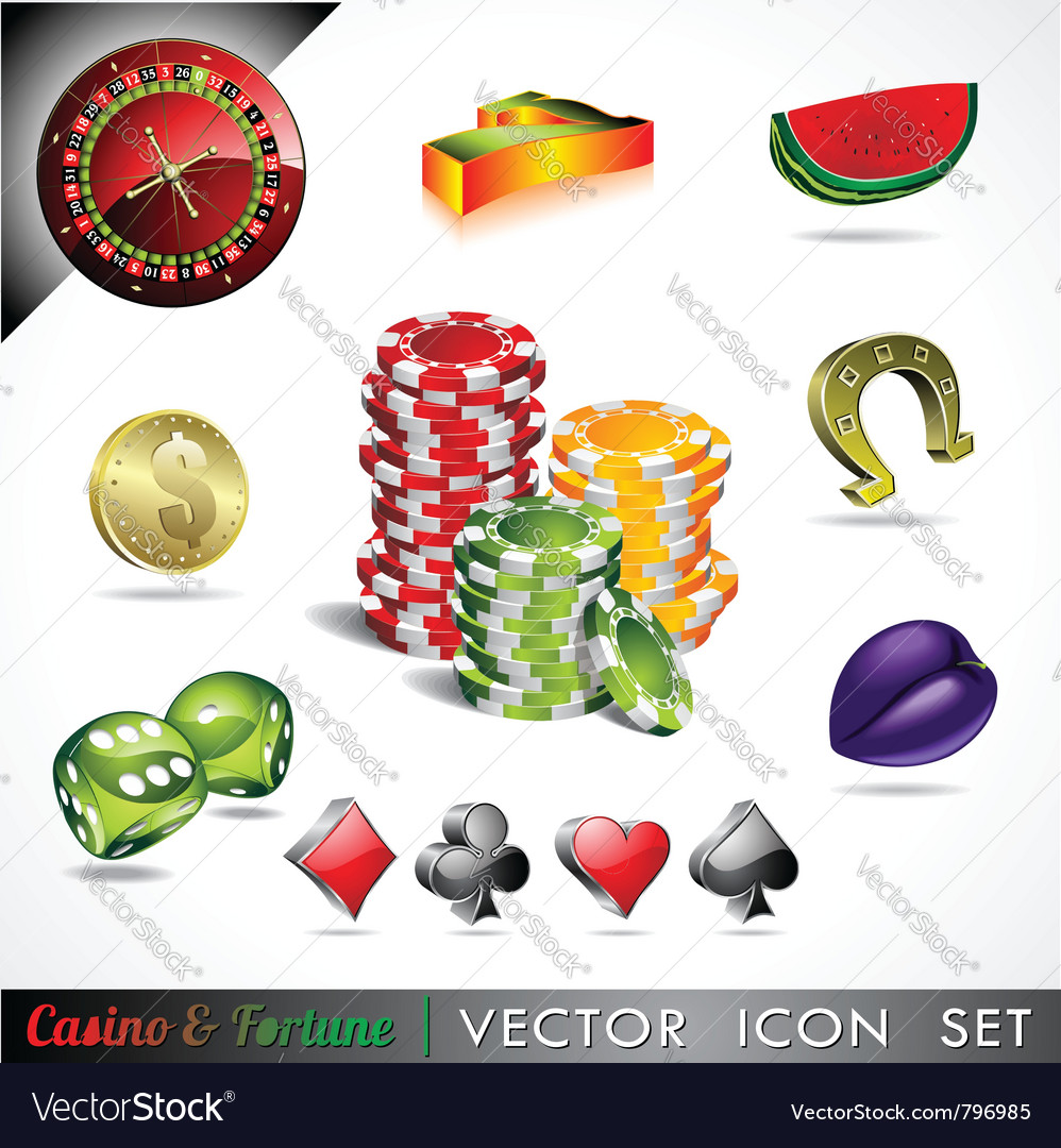 Casino and fortune theme vector | Price: 3 Credit (USD $3)