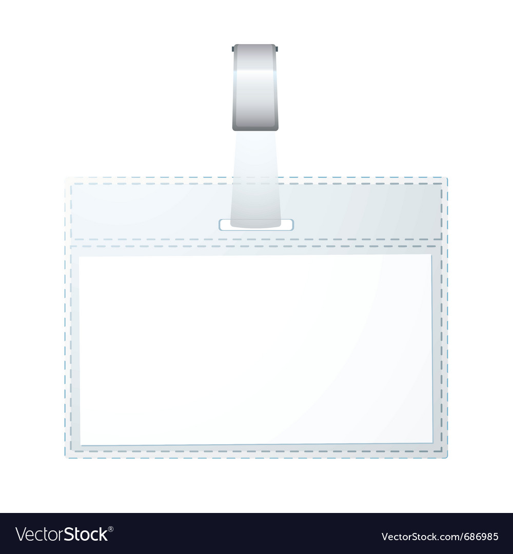 Clear plastic business name tag vector | Price: 1 Credit (USD $1)