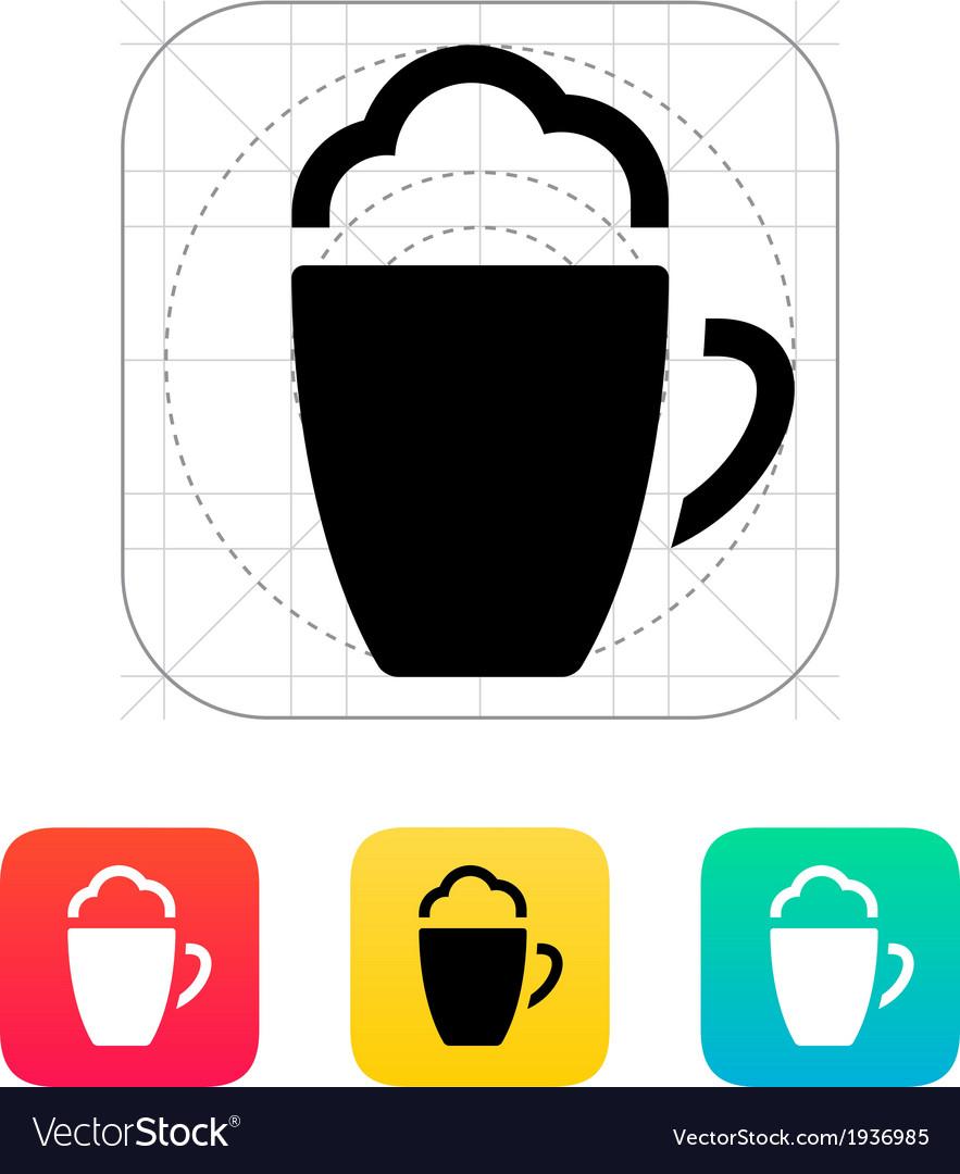 Foam coffee icon vector | Price: 1 Credit (USD $1)