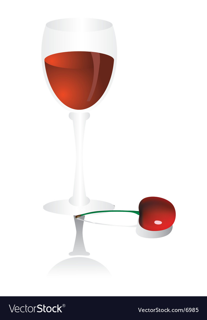 Goblet with cherry vector | Price: 1 Credit (USD $1)