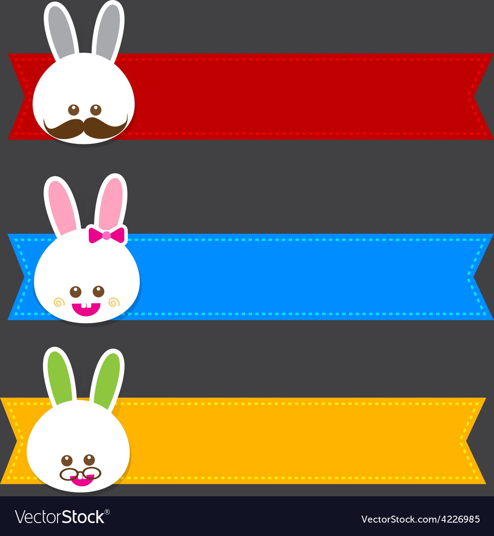 Happy easter banner 001 vector | Price: 1 Credit (USD $1)