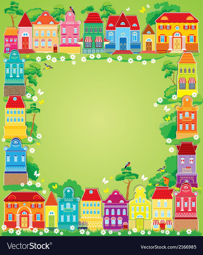 Home frame summer 380 vector | Price: 1 Credit (USD $1)